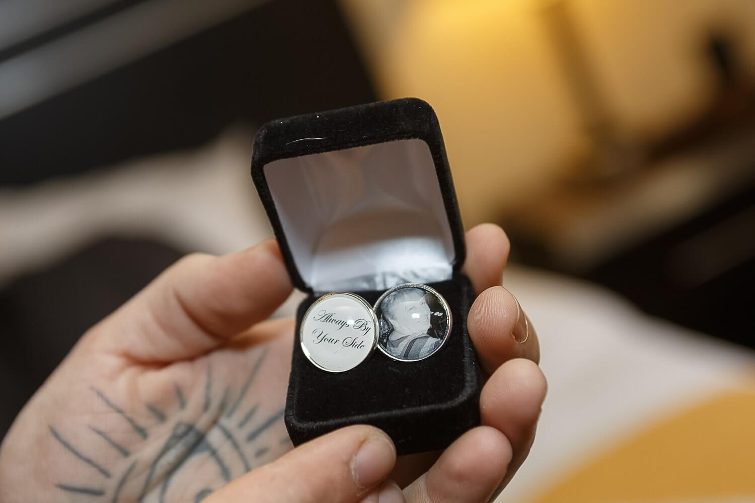 remember loved ones on Cufflinks