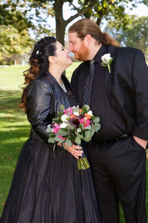 Black Wedding Dress at New Jersey Wedding
