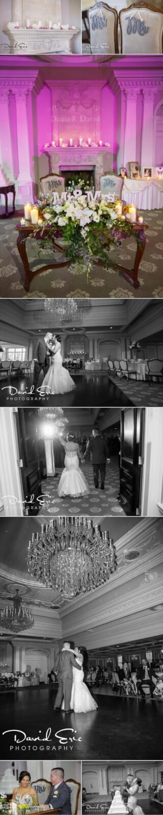 Park Savoy Wedding the reception details and first dance