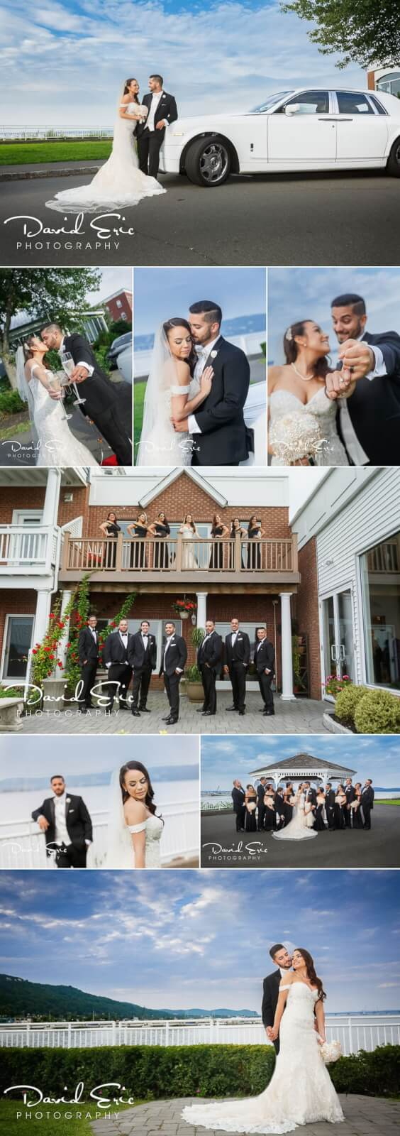 The View on the Hudson Wedding Bridal party and bride and groom photos